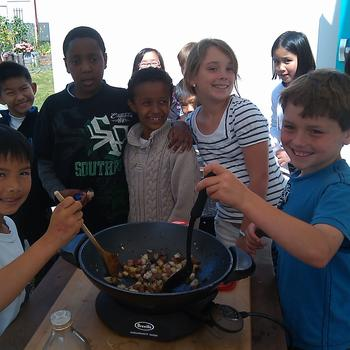 Cooking with 3rd Graders
