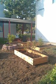 Thank you to the Boy Scouts for our new garden beds!
