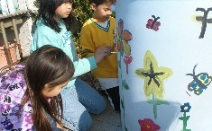 Adding more color to our rain barrels